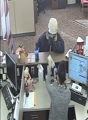 Photo from a surveillance video show the suspect in the Kanawha City bank robbery. (Charleston Police Department)<p></p>