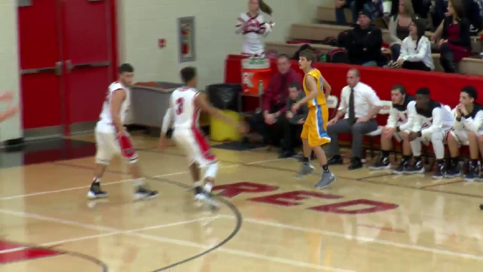 12.8.15- High School - Boys Basketball- Oak Glen tops Weir High on the road