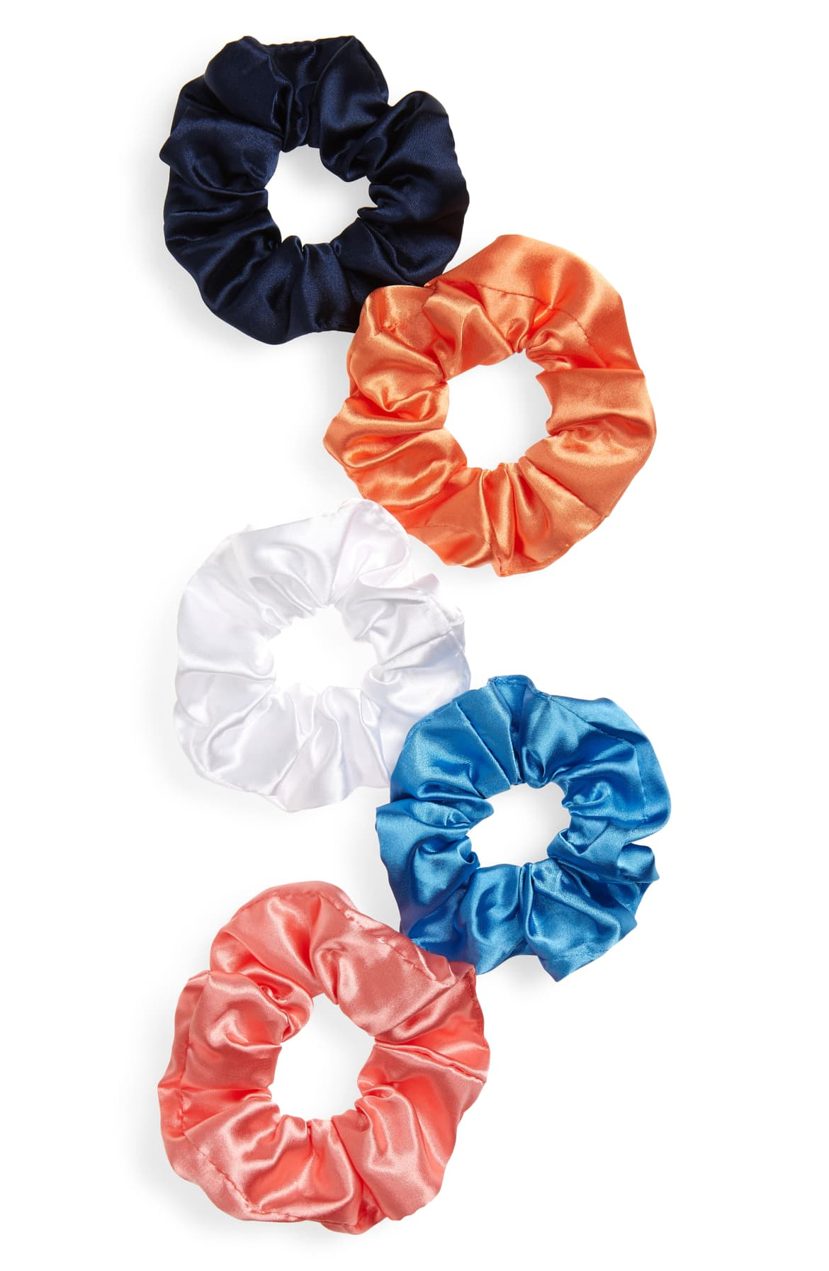 Add a little '80s inspired shine to your updo with a silky scrunchy from this colorful pack of five. $15. (Image: Nordstrom){ }