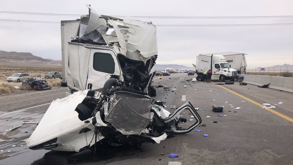 Nine-vehicle crash on I-15 at Primm causes major traffic delays | KSNV