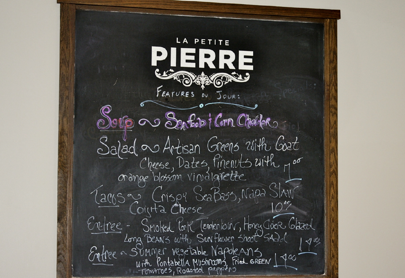 La Petite Pierre is a French-inspired bistro and wine bar in Madeira that sources its fresh ingredients from local suppliers. / ADDRESS: 7800 Camargo Rd, Cincinnati, OH 45243. // IMAGE: Molly Paz