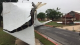 State fair arch destroyed in overnight storms