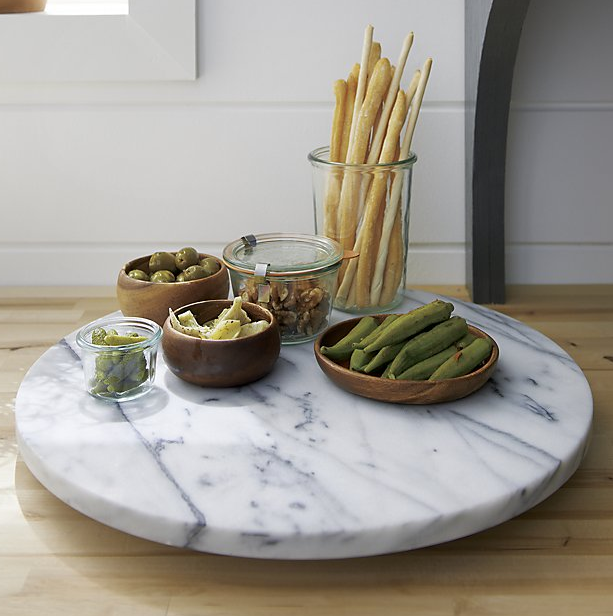 French Kitchen Marble Lazy Susan ($99.95). Find on crateandbarrel.com. (Image: Crate & Barrel)