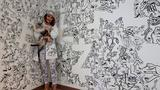 Photos: Woman turns her entire home into a giant doodle