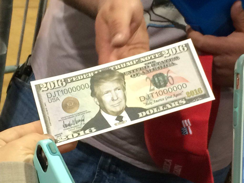 Seen inside the Trump rally at the Lane Events Center in Eugene, Ore., on May 6, 2016 (SBG Photo)