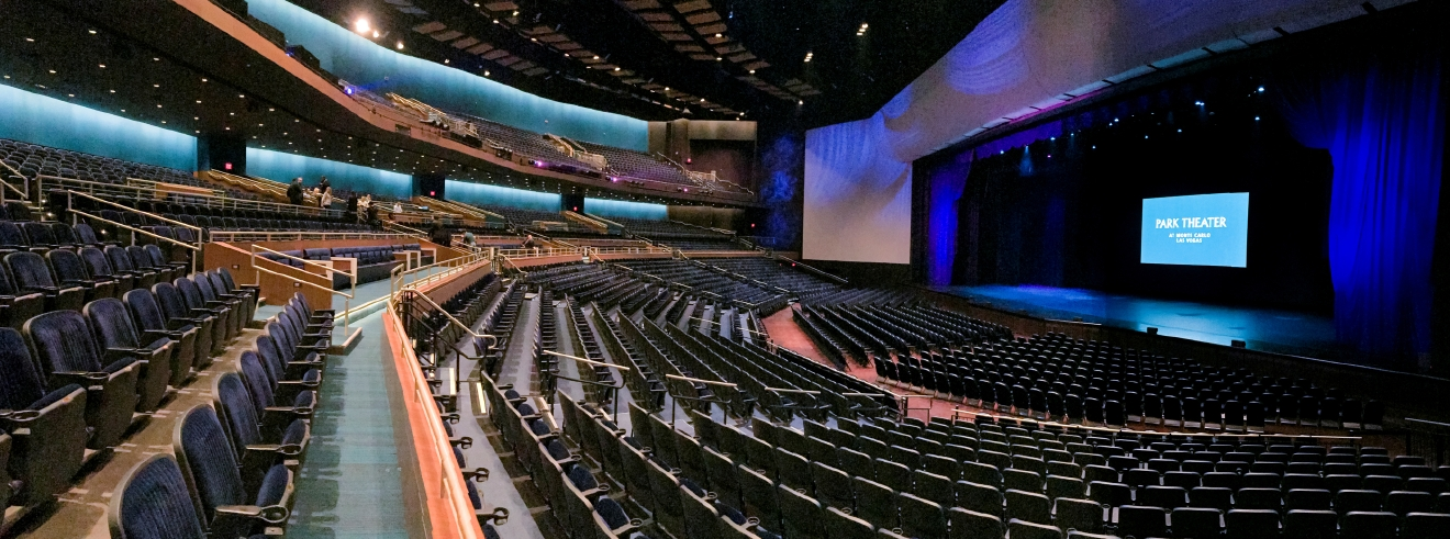 A panoramic view of the interior of The Park Theater at the Monte Carlo Resort and Casino in Las Vegas on Tuesday, Dec. 6, 2016. The 5,200-seat venue opens on Dec. 17 with Stevie Nicks and The Pretenders.  CREDIT: Mark Damon/Las Vegas News Bureau