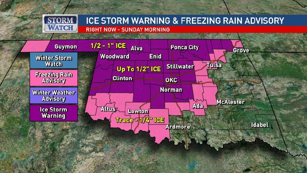 Ice storm warning issued for oklahoma city as more storms move ice storm warning issued for oklahoma city as more storms move into the state malvernweather Images