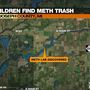 Teens find meth trash in St. Joseph County, Michigan