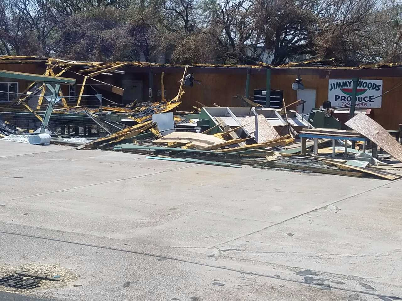 The group took photos of storm damage in Texas.   Photo: Virginia Kipp