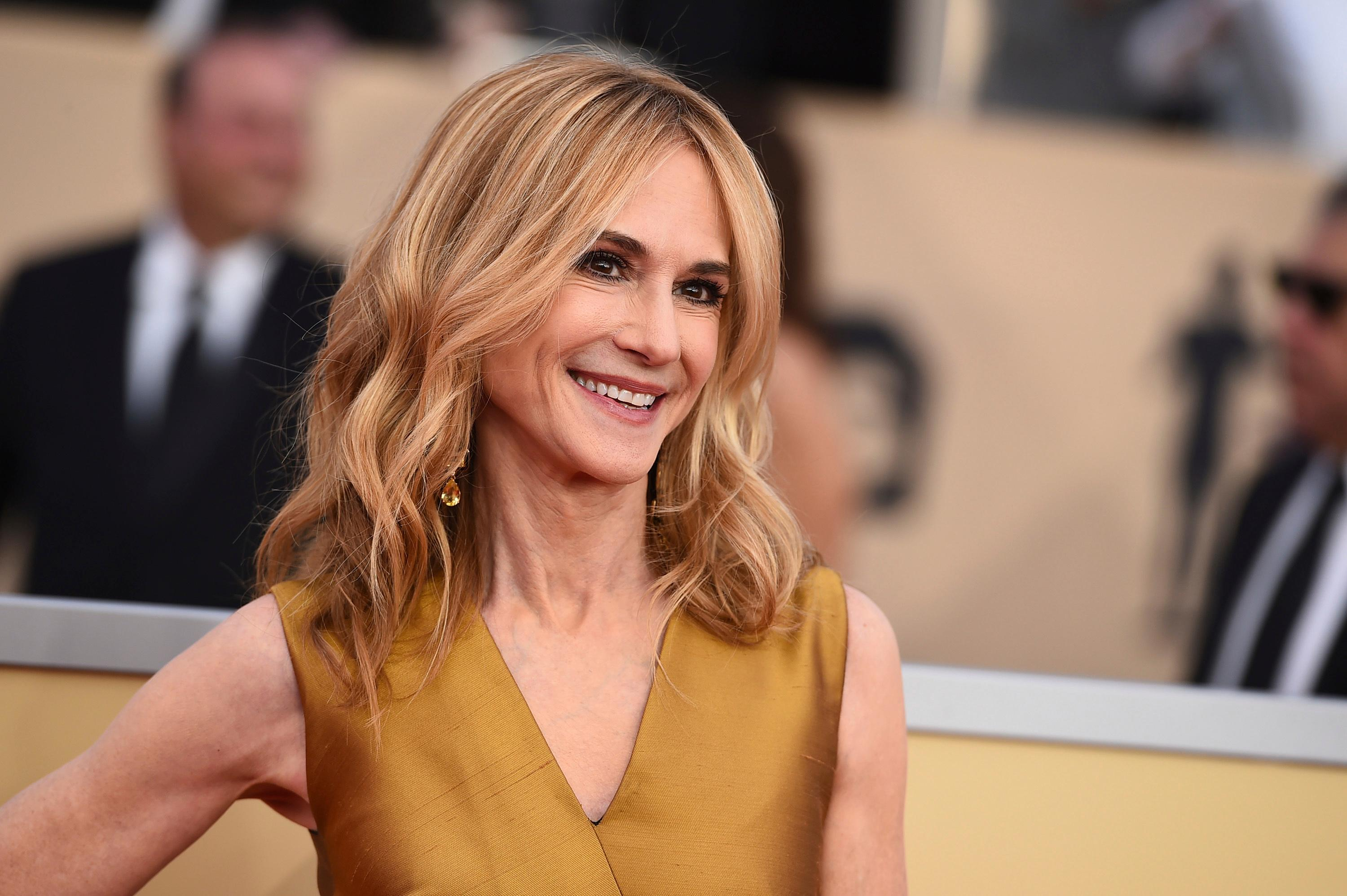 Holly Hunter arrives at the 24th annual Screen Actors Guild Awards at the Shrine Auditorium & Expo Hall on Sunday, Jan. 21, 2018, in Los Angeles. (Photo by Jordan Strauss/Invision/AP)