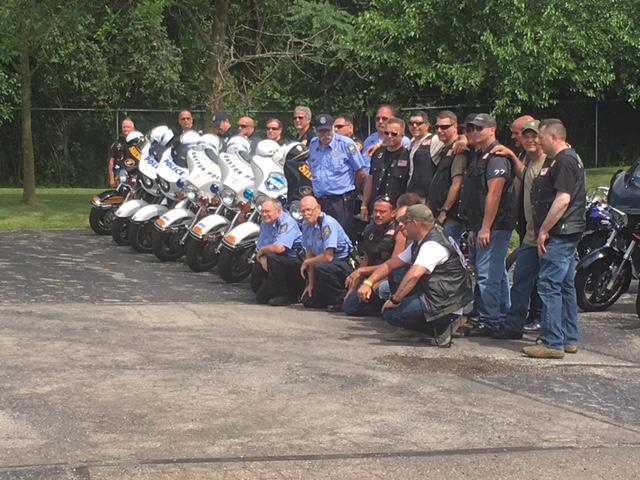 Miami Valley motorcyclists get together to ride for one of our first responders (WKEF/WRGT)
