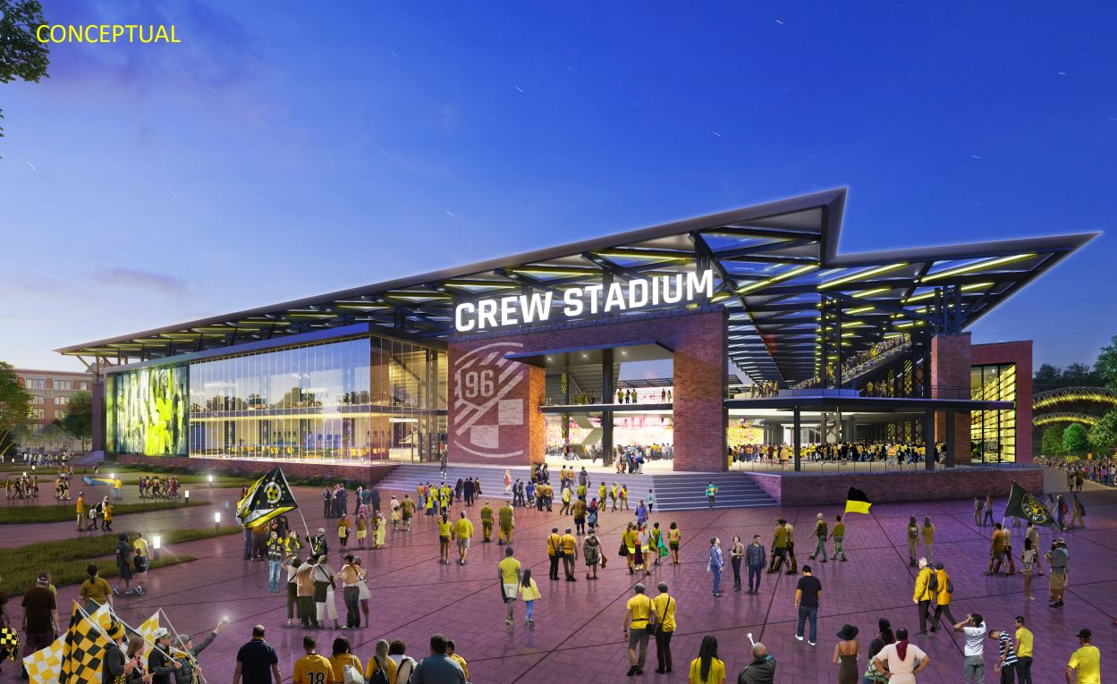 Plans for the new stadium for Columbus Crew SC were announced Thursday afternoon Dec. 6, 2018. (Courtesy: Columbus Crew SC)