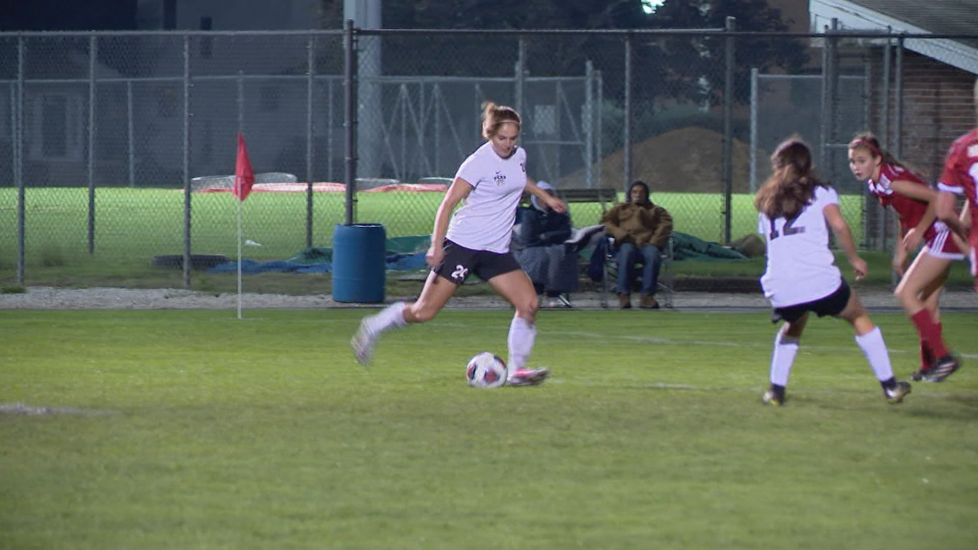 Kristina Lynch, the senior forward has paced Penn in scoring with 44 goals this season // WSBT 22 Photo