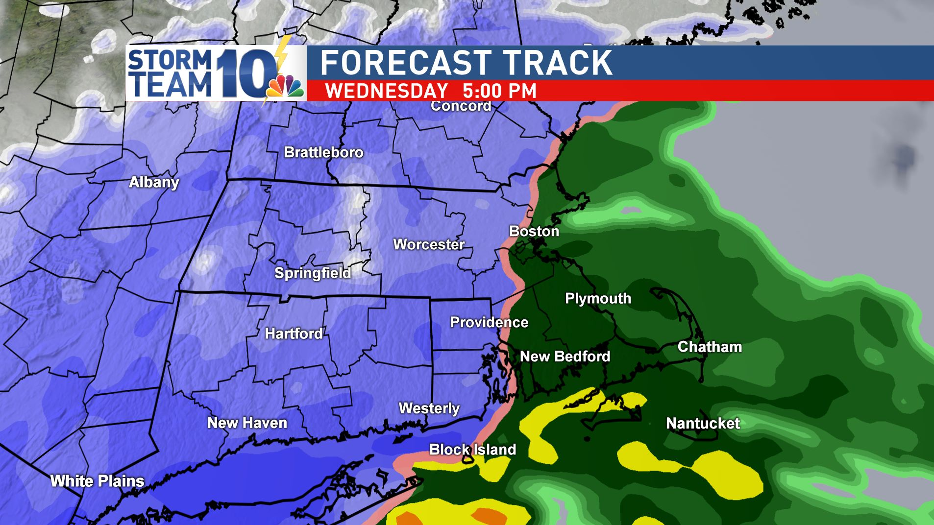 Snow AND rain will impact the Wednesday evening commute