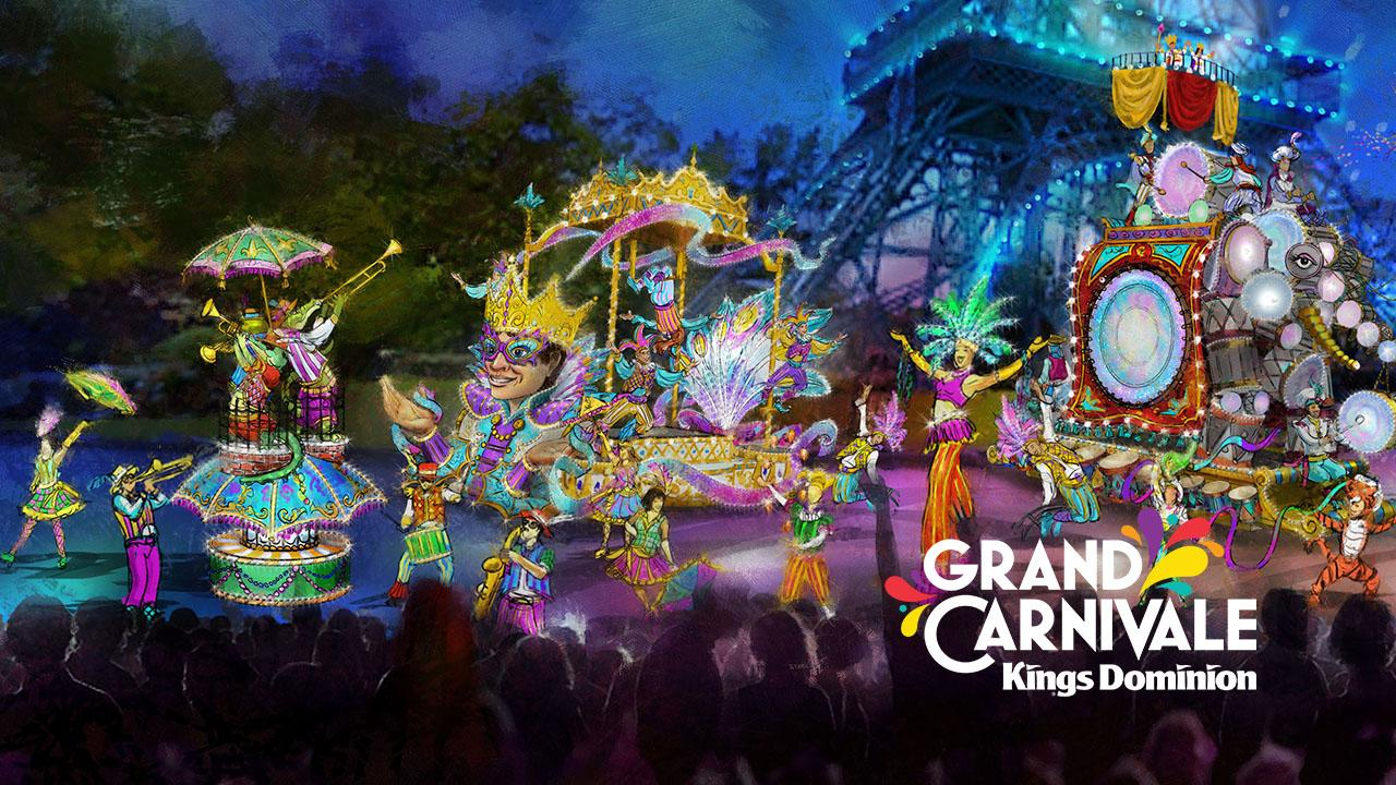 Grand Carnivale is an immersive festival that will be held nightly June 15 through July 7 and includes a parade. (Image: Courtesy Kings Dominion)