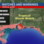 Tropical Storm Watch issued