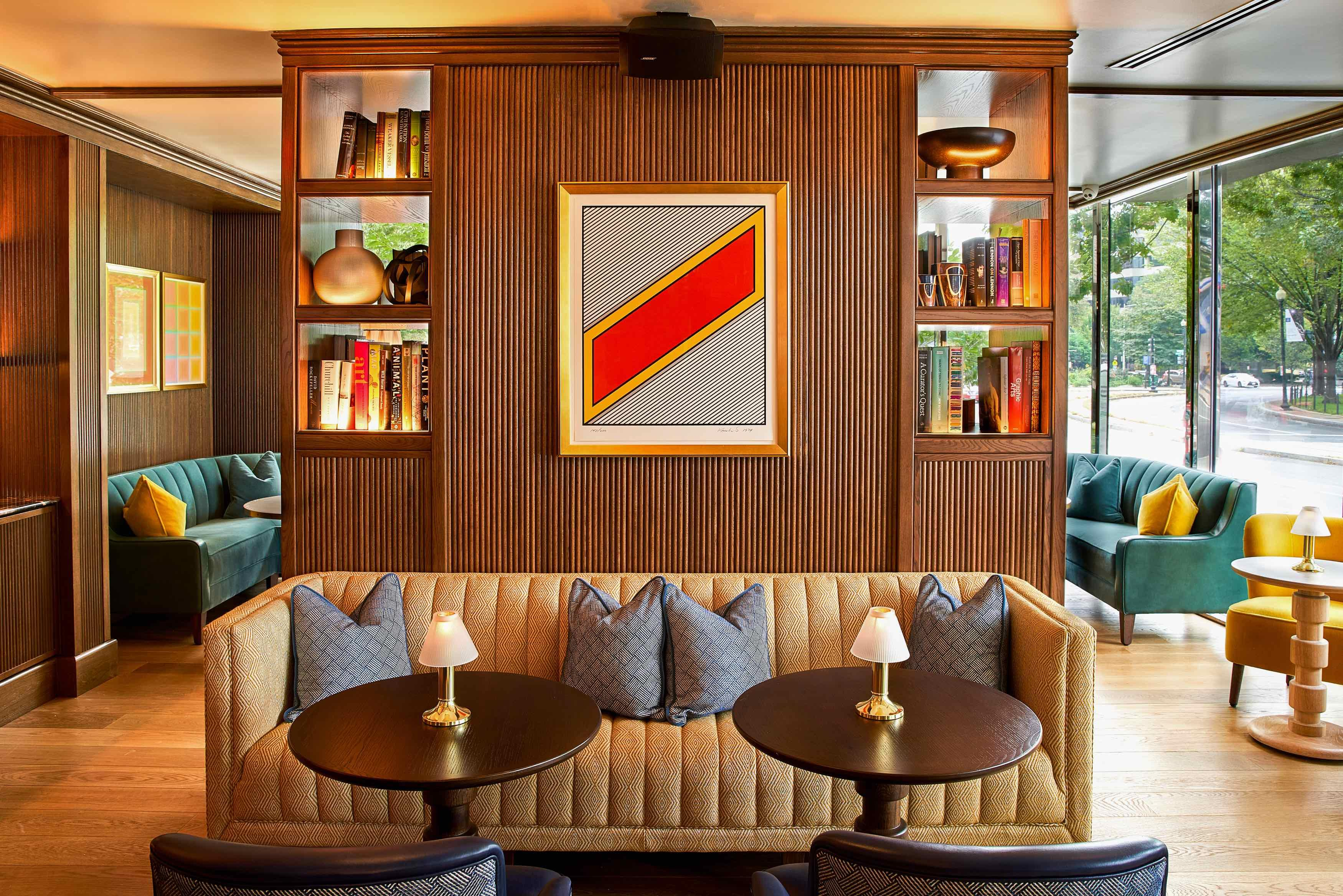 The parent company for The Dupont Circle Hotel and its sleek lounge The Doyle is headquartered in Ireland, and assistant bar manager Dominik Lenikowski oversees an ever-growing list of brown spirits from the Emerald Isle. (Image: Courtesy The Dupont Circle Hotel)