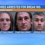 Three arrested in for involvement in string of burglaries in Brooke County