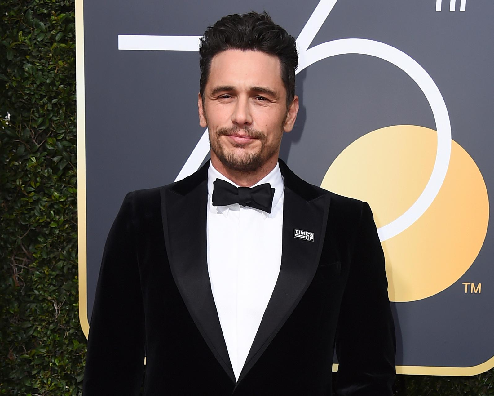 FILE - In this Jan. 7, 2018 file photo, James Franco arrives at the 75th annual Golden Globe Awards in Beverly Hills, Calif. (Photo by Jordan Strauss/Invision/AP, File)