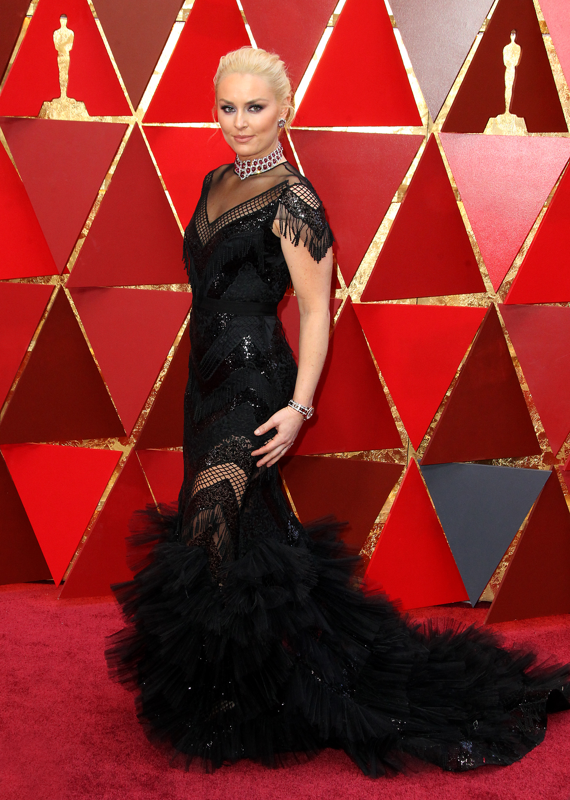 Lindsey Vonnarrives at the 90th Annual Academy Awards (Oscars) held at the Dolby Theater in Hollywood, California. (Image: Adriana M. Barraza/WENN.com)<p></p>