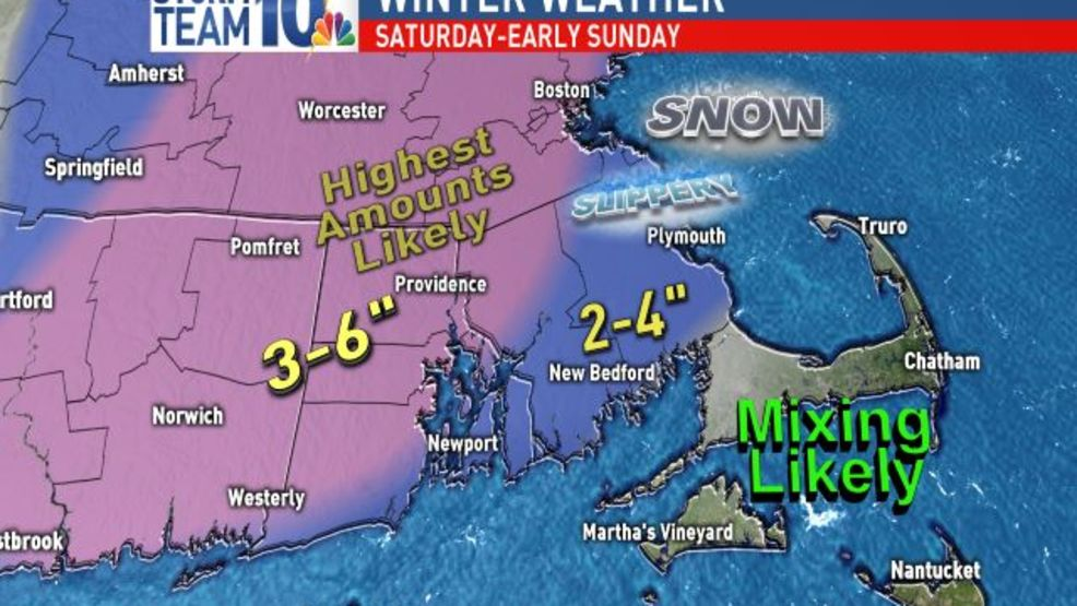 Saturday snow -- and what to expect