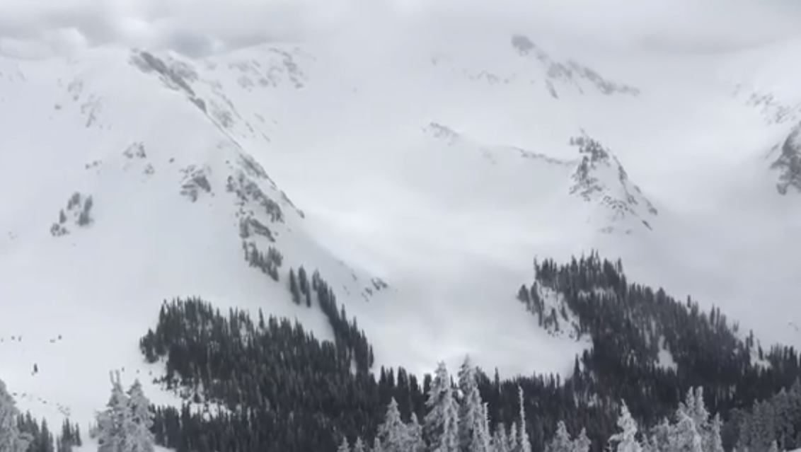 Dangerous avalanche conditions on wind-drifted slopes this weekend (Photo courtesy of UAC)