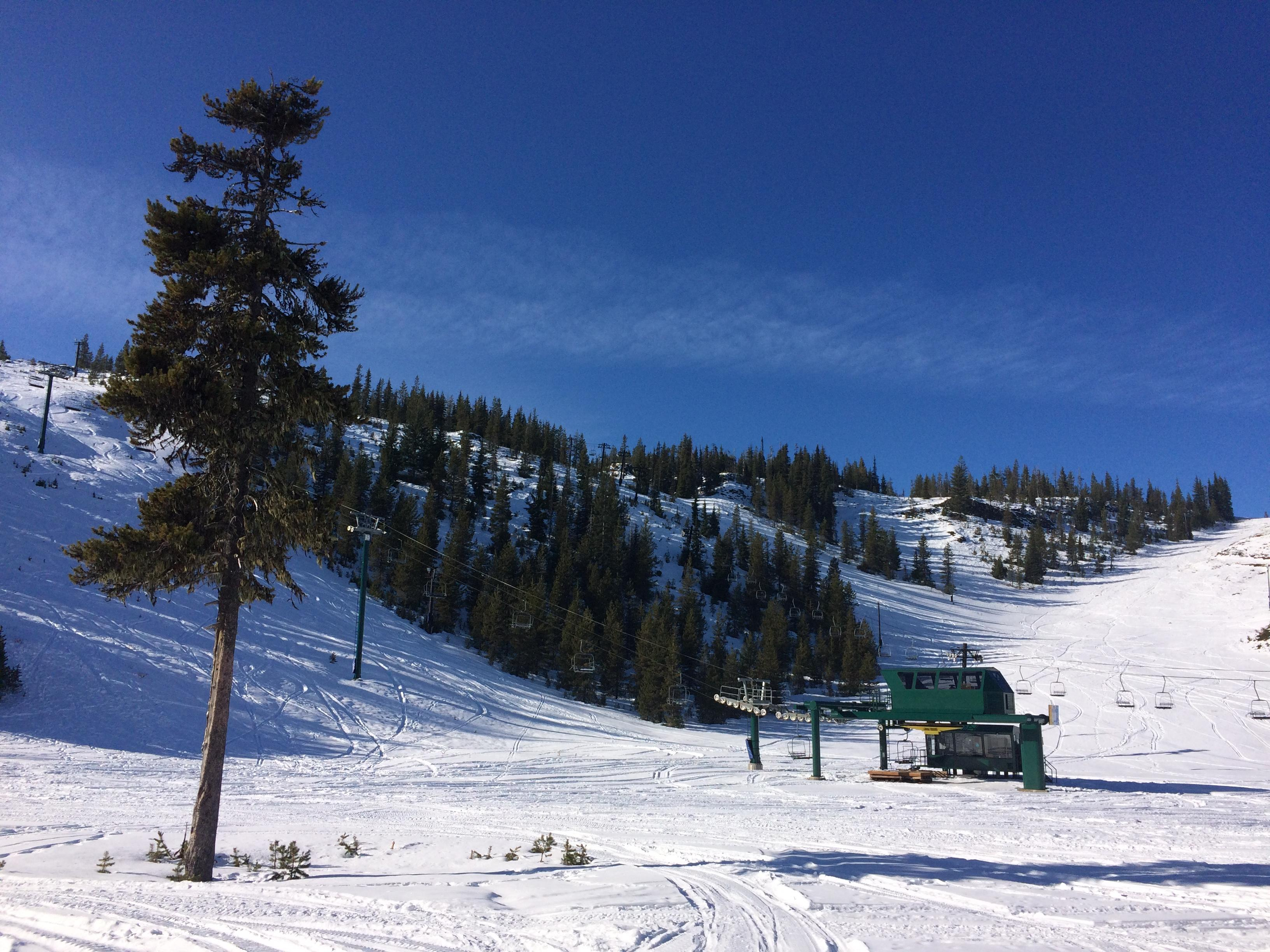 Hoodoo still needs 16 inches more of snow; they hope to open during winter break. (SBG)