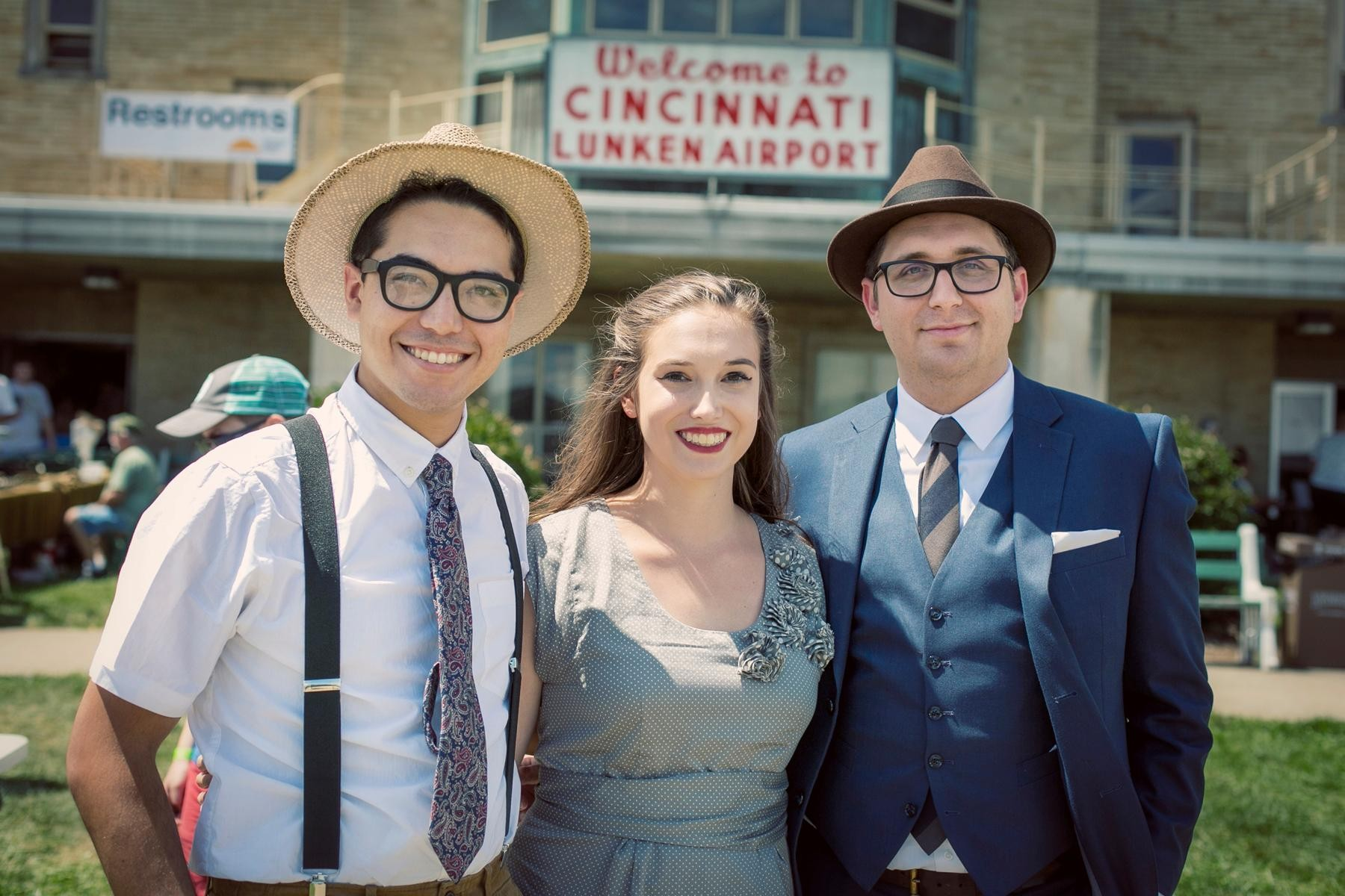 People: Paul Kemp, Lexie Wallingford, and Collin Eckerle / Event: 1940s Day Celebration at Lunken (8.12.17) / Image: Mike Bresnen Photography // Published: 9.3.17