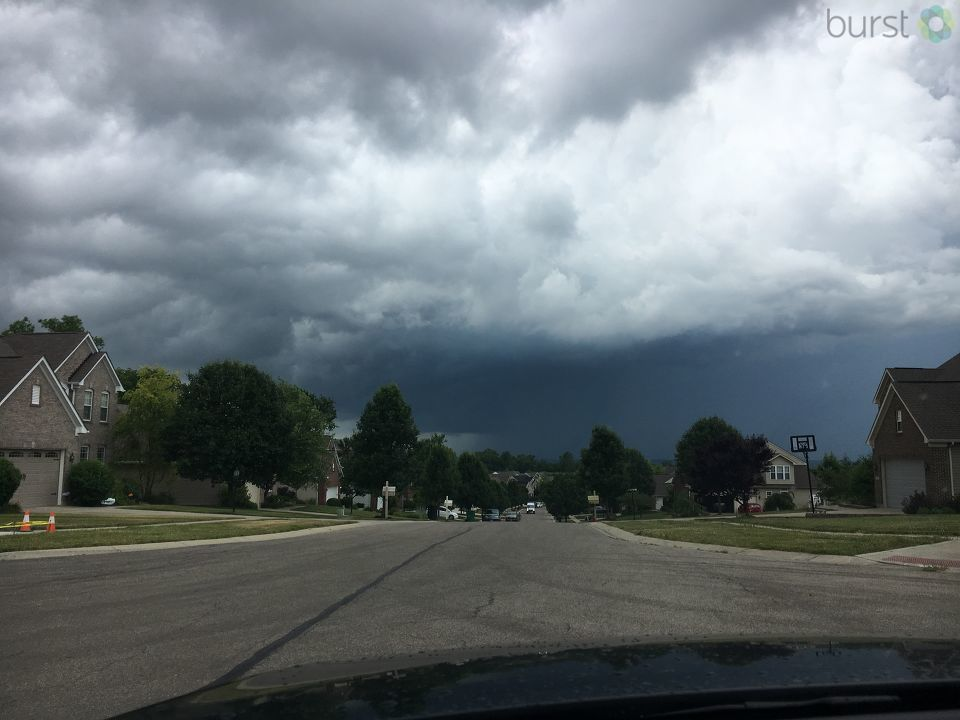Dark clouds in Springboro, photo from Erik