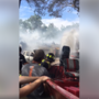 Arkadelphia firefighters use boat to battle Houston house fire during flood